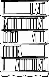 Bookshelf Coloring Pages Bookcase Bible Bookshelves Template Sketch Tocolor Templates sketch template
