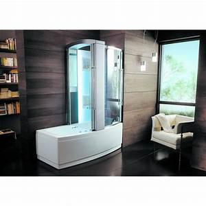 Baignoire Douche Balneo : ensemble baignoire douche avec fonction hydromassage ~ Melissatoandfro.com Idées de Décoration
