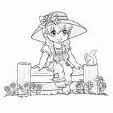 Coloring Stamps Digi Fence Tilda Kleuren Adult Sitting Deviantart Drawings Drawing Whimsy Zoeken Copic Google sketch template