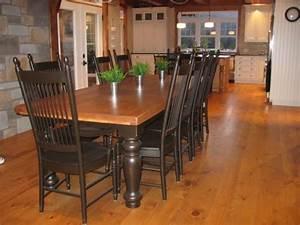 Table De Cuisine En Bois : table de cuisine en bois atelier meuble rustique ~ Teatrodelosmanantiales.com Idées de Décoration