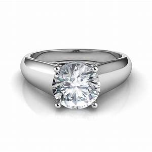 lucida wide band solitaire diamond engagement ring With diamond solitaire wedding rings