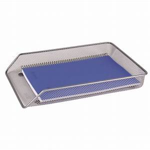 q connect mesh letter tray a4 silver kf00843 officestuffie With mesh letter tray