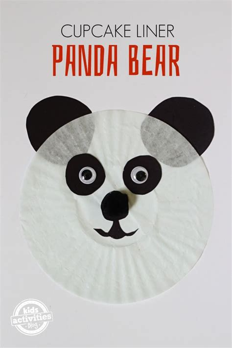 panda cupcake liner craft just crafts 505 | dd7ac321955e1035ade54396503b673c