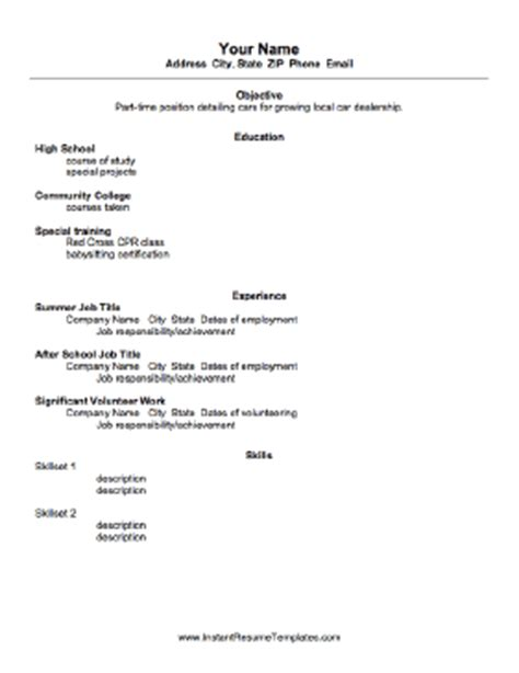 resumes for school high school student resume template