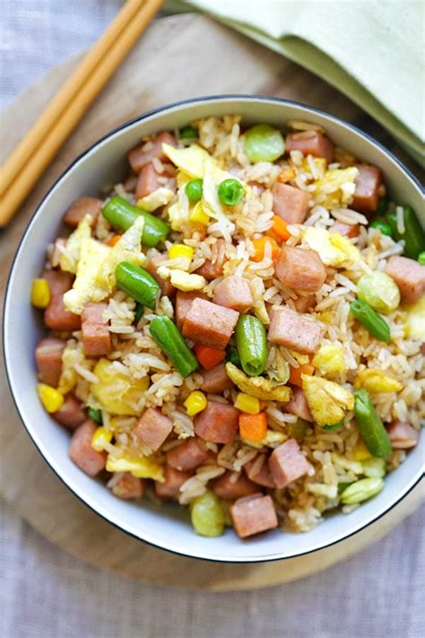 Although rice pudding originated in asia, this hearty dessert found its way into various cultures worldwide, picking up local we will help you with making some delicious rice recipes including thai rice, tamarind rice and more that you can prepare at home when guests. Spam Fried Rice | Easy Delicious Recipes: Rasa Malaysia