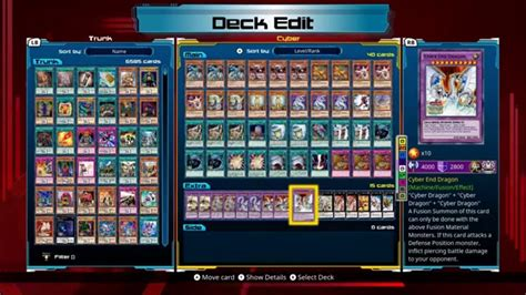 cyber deck list 2016 yu gi oh legacy of the duelist cyber deck profile