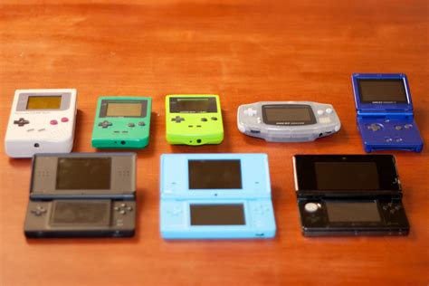 handheld history  collection     nintendo