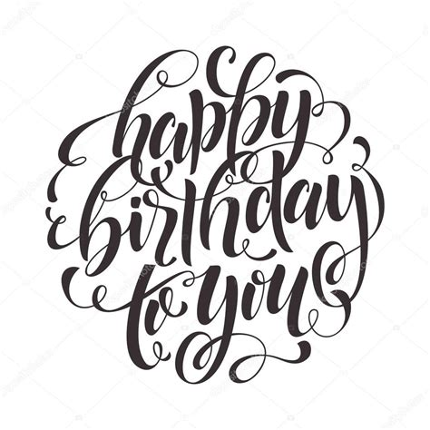 happy birthday text  greeting card invitation stock