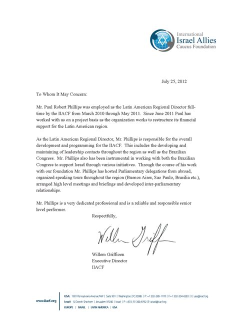 Letter Of Recommendation by Maps Reference Letter