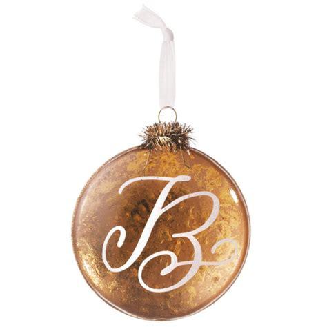 letter  monogram christmas ornament midwest cbk