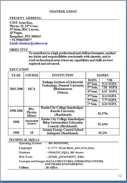 mca fresher resume format in word sle template excellent of curriculum vitae cv format with