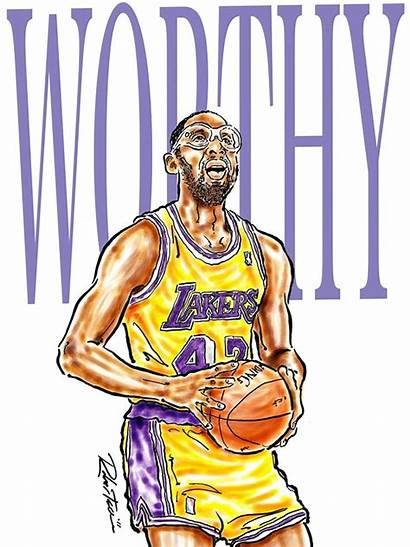 Lakers Worthy James Nba Angeles Los Legends