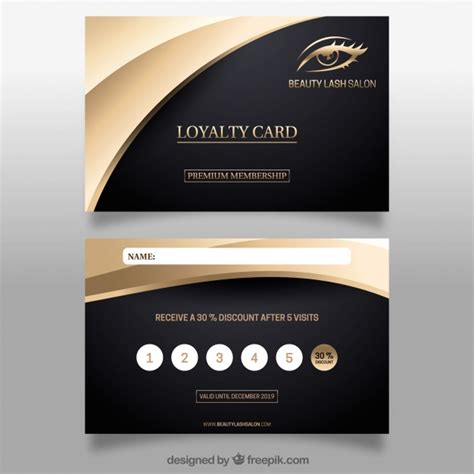 elegant loyalty card template  golden design  vector
