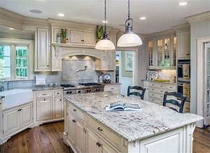 26 gorgeous white country kitchens pictures designing idea With kitchen colors with white cabinets with surfer wall art