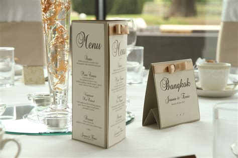 wedding menus wedding menu stand alone wedding