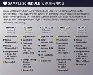 prt 8 sample schedule sustaining phase With army pt calendar template