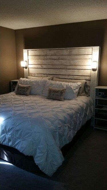 pallet headboard apartmenthome ideas pinterest