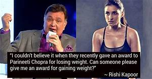 Rishi Kapoor Takes A Dig At Parineeti Chopra