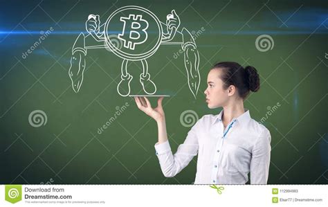With paper money, a government decides when with bitcoin, miners use special software to solve math problems and are issued a certain. Lucky Cute Lady And Bitcoin Investment. Concept Of Mining And Virtual Criptocurrency. Successful ...