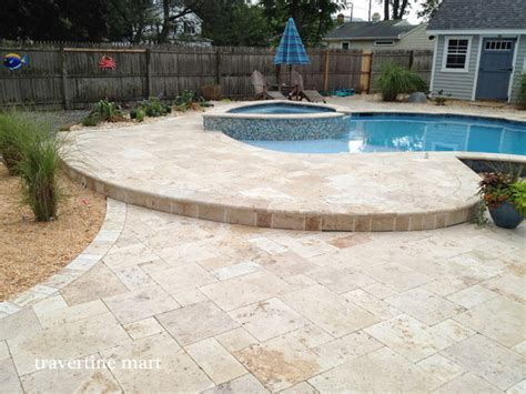 walnut travertine pavers traditional patio other