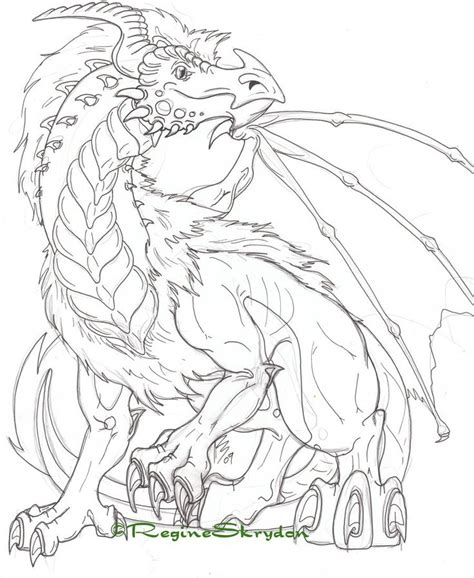 Detailed Dragon Coloring Pages