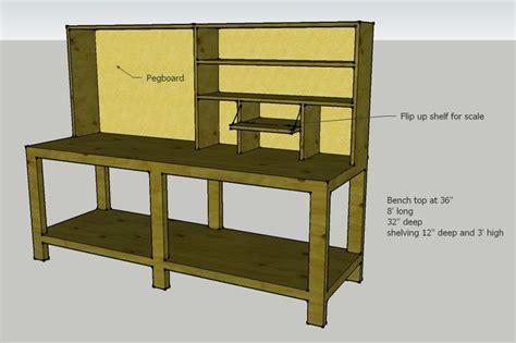 workbench plans pegboard   shelves reloading