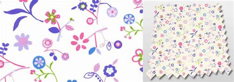 white pink lilac blue green flowers nursery curtains