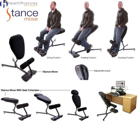 health postures stance move kneeling chair 5000 5001