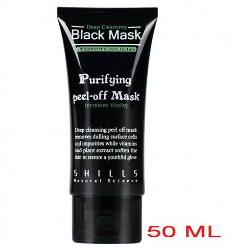 shills black mask shills cleansing black mask purifying peel mask