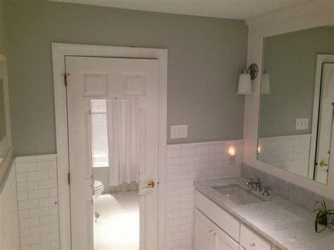 subway tile wainscoting bathroom subway tile wainscoting hall bath inspiration pinterest