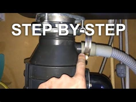 how to fix sink disposal my garbage disposal leaks easy fix save youtube
