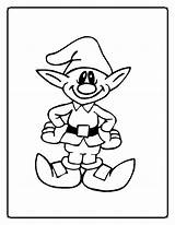 Coloring Elf Pages Print sketch template