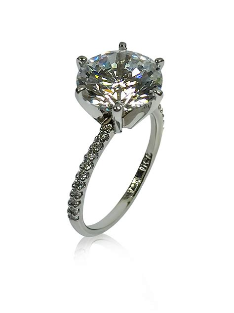 cubic zirconia rings engagement rings round cubic