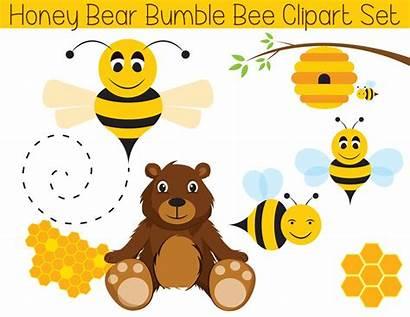 Clipart Honeycomb Bee Clip Bear Shower Printable