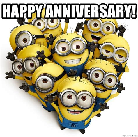 Are you looking for funny anniversary memes? Happy Anniversary Minions