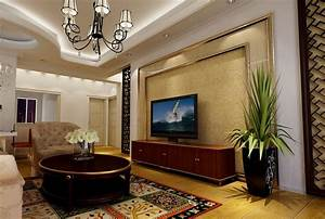 Living room interior design ceiling