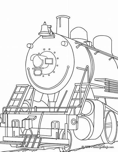 Train Colorear Vapor Coloriage Locomotora Locomotive Colorir