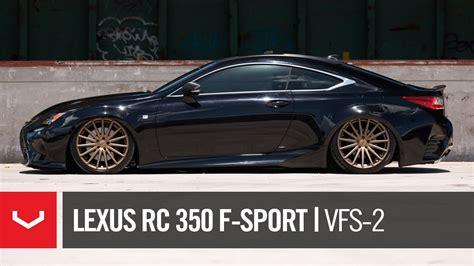 lexus rcf black lexus rc 350 f sport quot black bronze quot vossen vfs 2