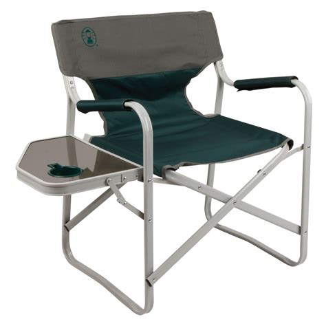 coleman deck chair with table coleman outpost elite deck chair with side table les green