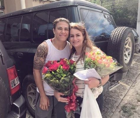 ufc fighter proposes   girlfriend
