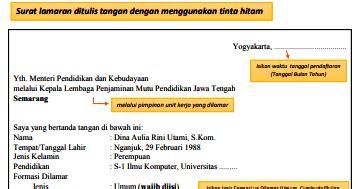 Surat Lamaran Cpns Kemendikbud by Contoh Surat Lamaran Cpns Kemendikbud 2018 List Kerja
