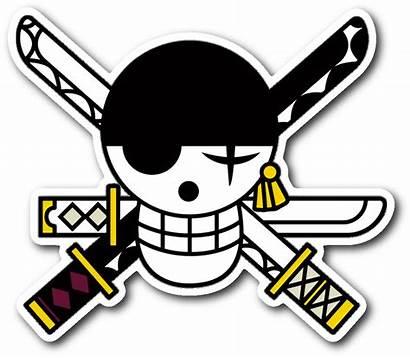 Jolly Zoro Roger Piece Sticker Clipart Symbol