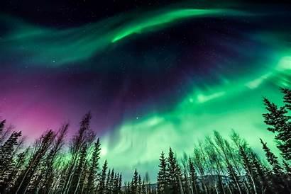 Lights Northern Amazing Nature Purple Natures Stream