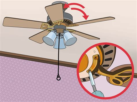 how to repair ceiling fan 3 ways to fix a wobbling ceiling fan wikihow
