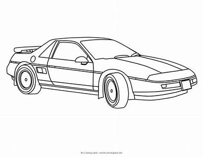 Coloring Cars Pages Classic Sports Smart Convertible