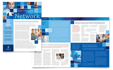 technology consulting  newsletter template word