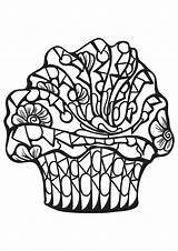 Coloring Cupcake Cakes Pages Cupcakes Adults Adult Food Cake Cup Printable Fruit Geeksvgs Little Children Mandala Nggallery Justcolor sketch template