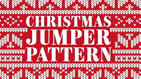 christmas jumper pattern adobe illustrator tutorial youtube