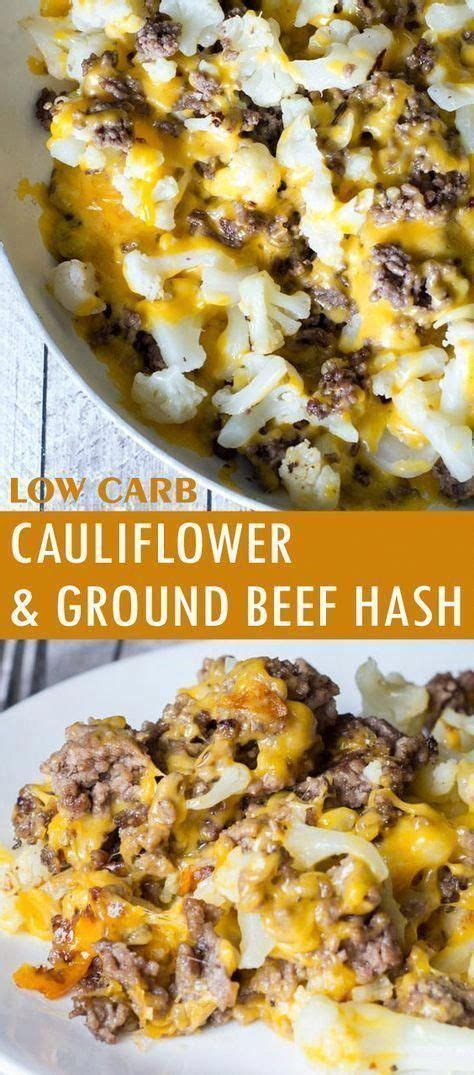 By nissa simon, aarp, updated june 2016 | comments: Cauliflower and Ground Beef Hash - Low Carb Recipe - Glue ...