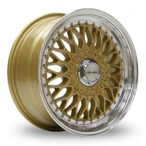 lenso bsx 4x100 15 quot lenso bsx gold mirror lip alloy wheels only brand new 4x100 et35 rims ebay